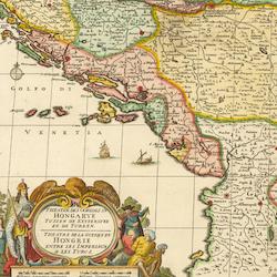 Karta – Balkan – 1729