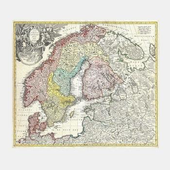 Karta – Skandinavien, Baltikum – 1730