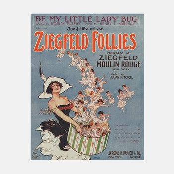 Poster – Ziegfeld Follies, Moulin Rouge – 1912