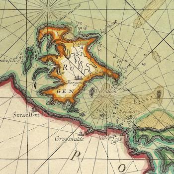 Karta – Danmarks och Sveriges kust – 1702