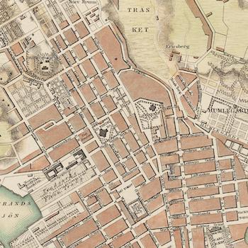 Karta – Stockholm – 1836