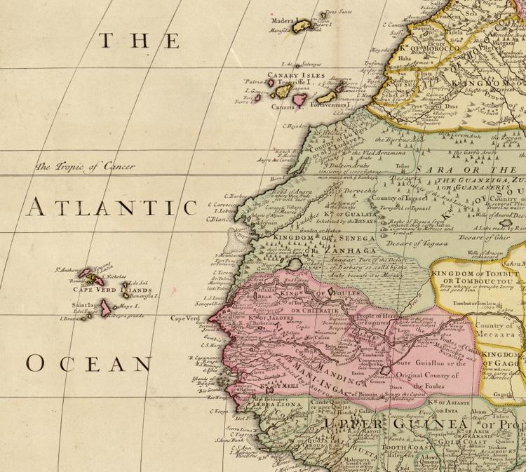 Karta – Afrika – 1725