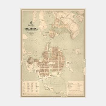Karta – Karlskrona – 1877