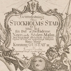 Karta – Gamla stan – 1771