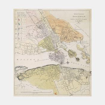 Karta – Vägvisare i Stockholm – 1819