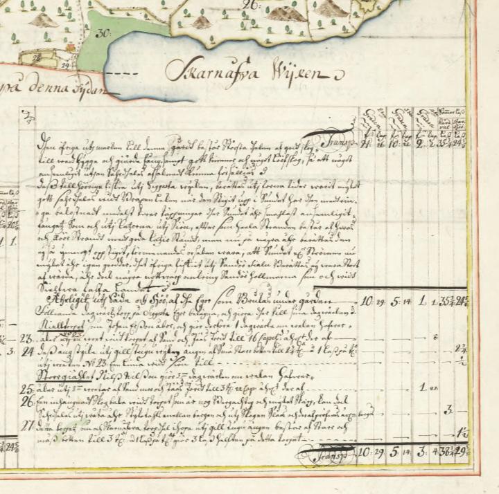 Karta – Siggesta, Värmdö – 1771