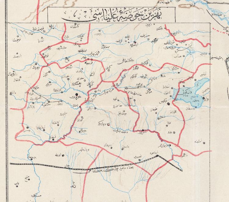 Karta – Ottmanska riket – 1910