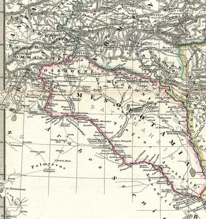 Karta – Kaukasus och Irak – 1865