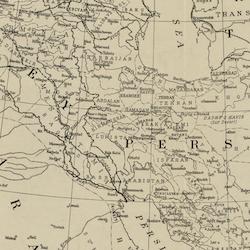 Karta – Mellanöstern – 1918