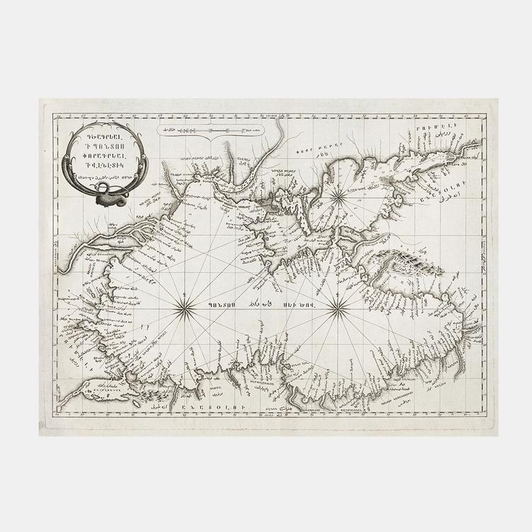 Karta – Svarta havet med omgivningar – 1820