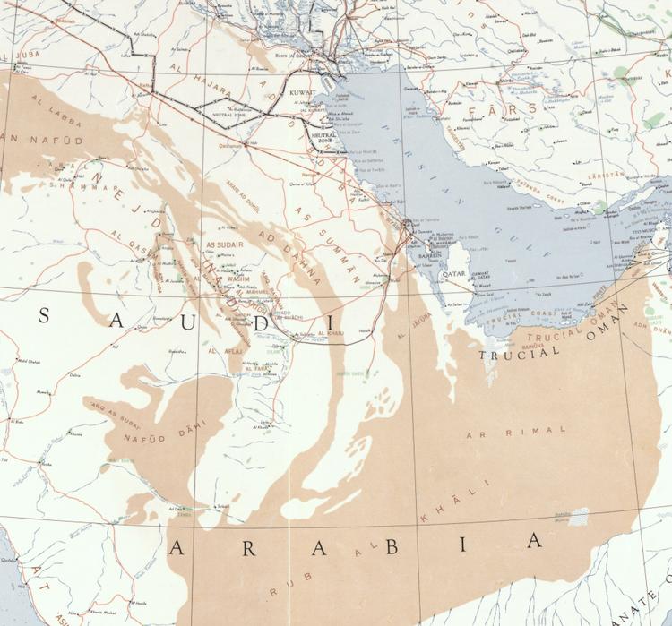 "Karta – ""The Near East"" – Mellanöstern – 1952"