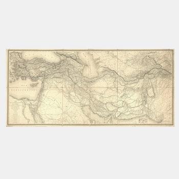 Karta – Turkiet, Mellanöstern – 1848