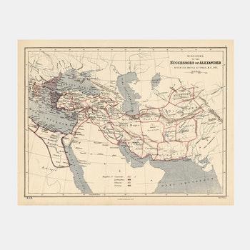 Karta – Successors of Alexander – 1800