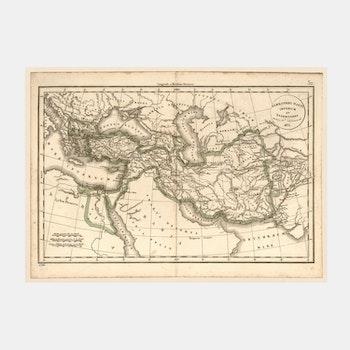 Karta – Alexander den stores imperium – 1833