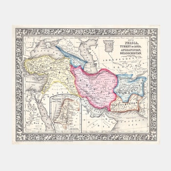 Karta – Mitchell Map of Persia, Turkey and Afghanistan – 1864