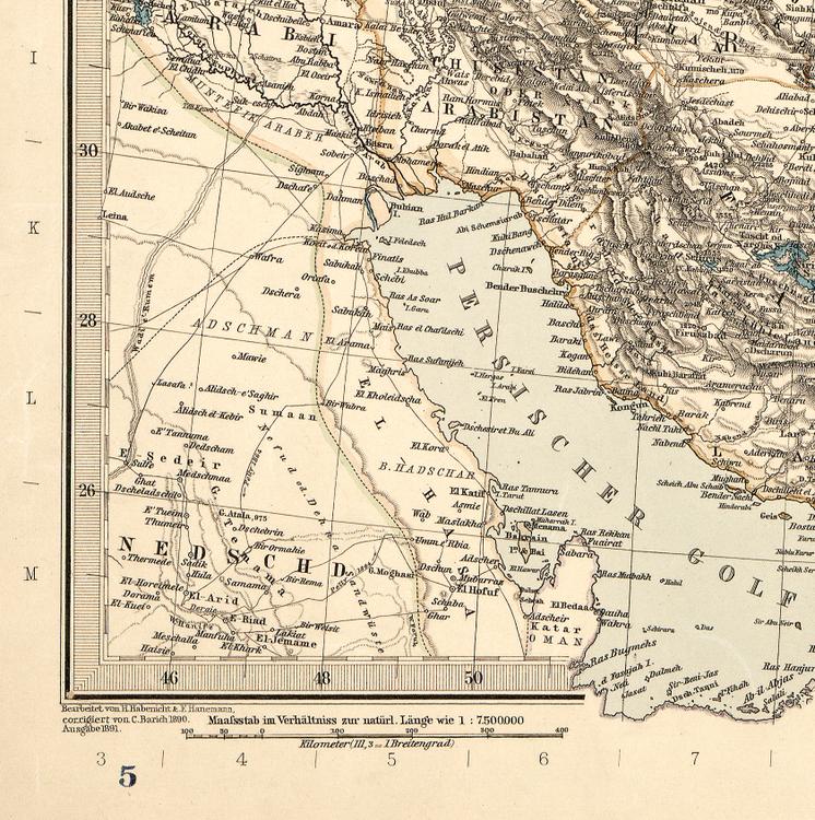 Karta – Iran & Turan – 1891