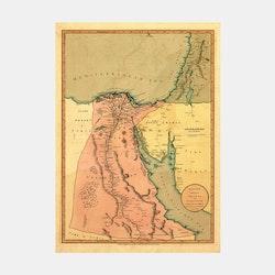 Karta – Egypten – 1800