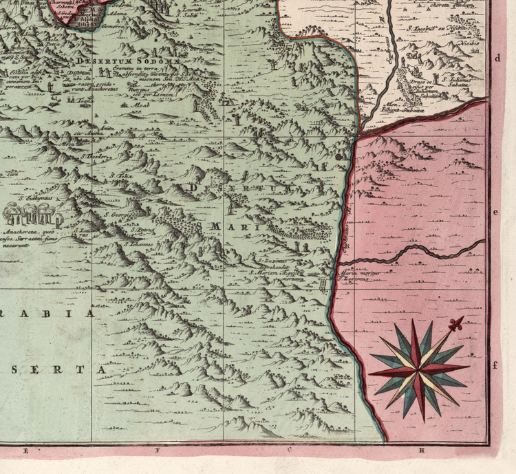 Karta – Egypten – 1700-tal