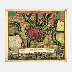 Karta/bild – Luxemburg – 1730