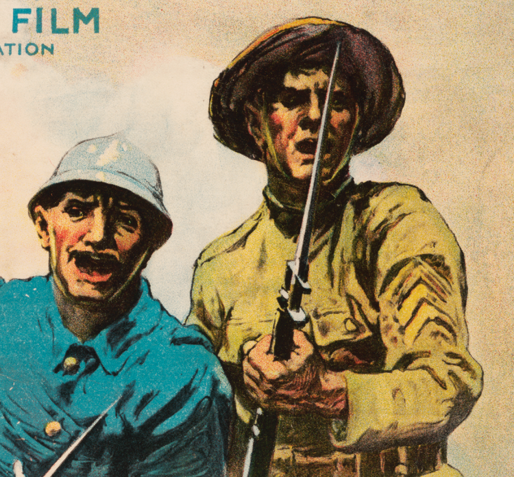 Filmposter – Under Four Flags – 1917