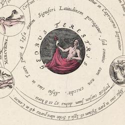 Bild – Planisfär, astronomi – 1708