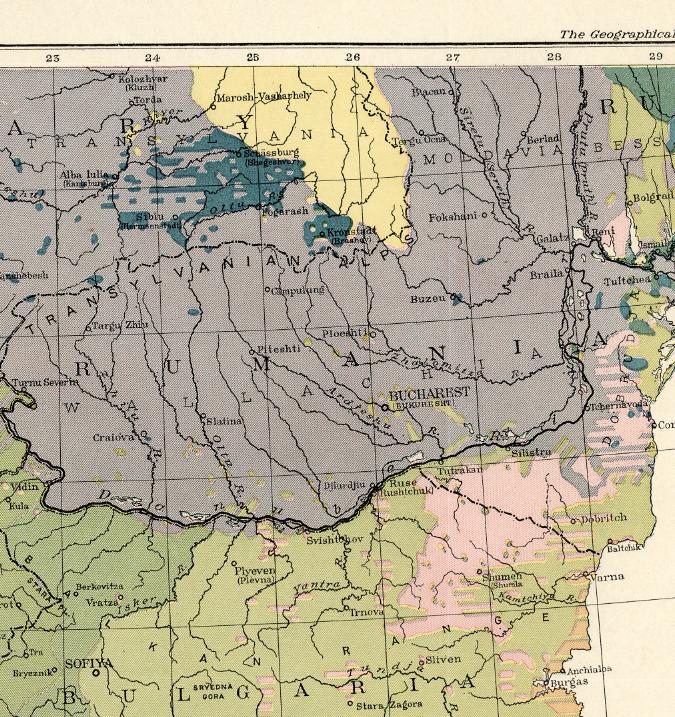 Karta – Balkan – 1918