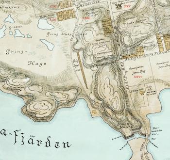 Karta – Stockholm, Södermalm – 1674
