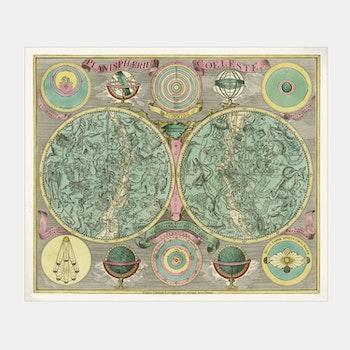 Bildkonst – Planisfär / Astronomi – 1772