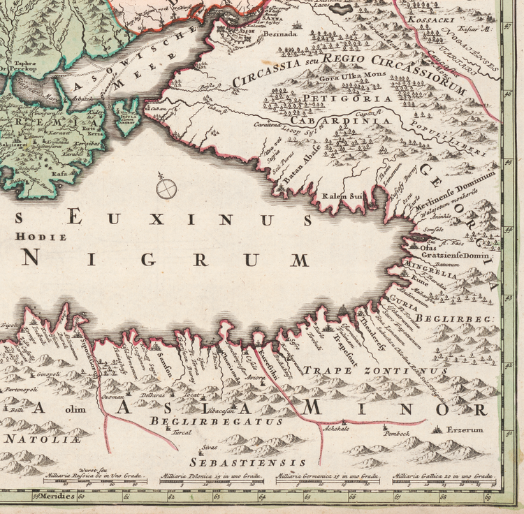 Karta – Östeuropa – 1720