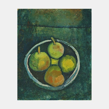 Konst – Paul Klee, Still Life with Four Apples – 1909