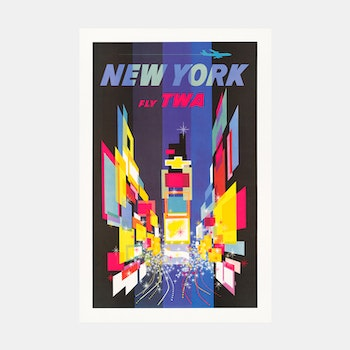 Poster – New York, Fly TWA – 1960