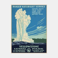 Poster – Yellowstone National Park – 1938