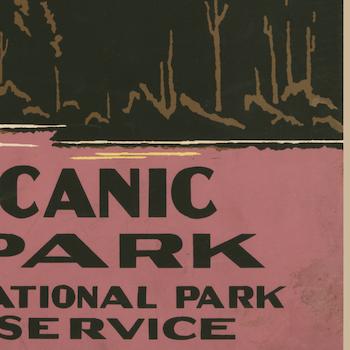 Poster – Lassen Volcanic National Park – 1938