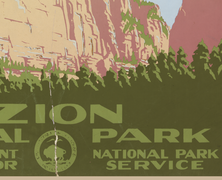 Poster – Zion National Park – 1938