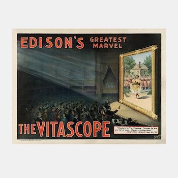 Poster – Edison's Greatest Marvel, The Vitascope – 1896
