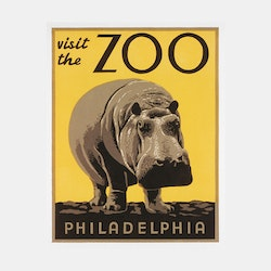 Poster – Visit the Zoo – 1936