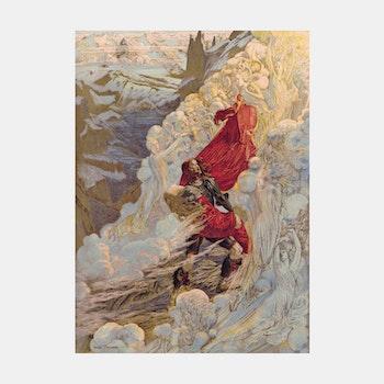 """Konst – """"Fervaal"""", Carloz Schwabe – 1898"""