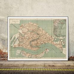 Karta – Venedig – 1886