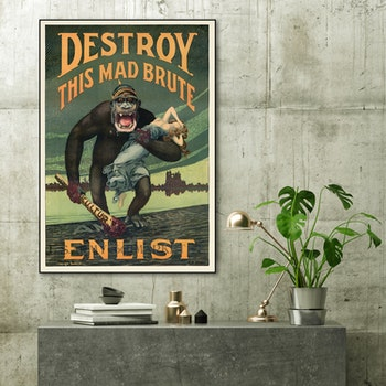 Poster – Destroy This Mad Brute – Enlist – 1917