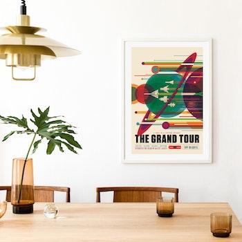 """Poster från NASA, """"The Grand Tour"""""""