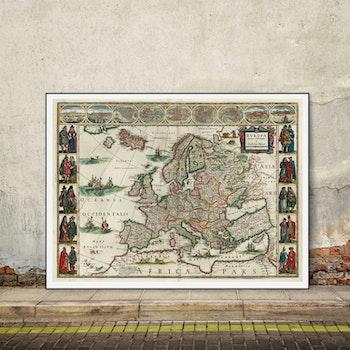 Karta – Europa – 1635