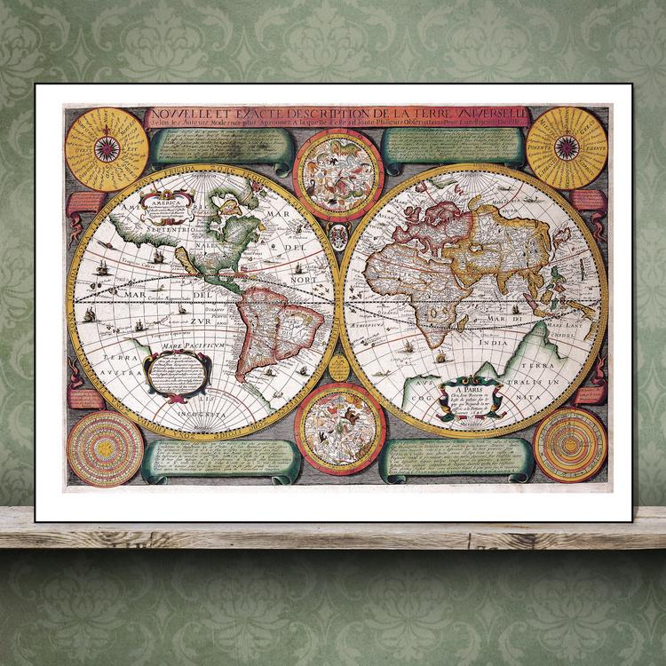 Världskarta – 1646