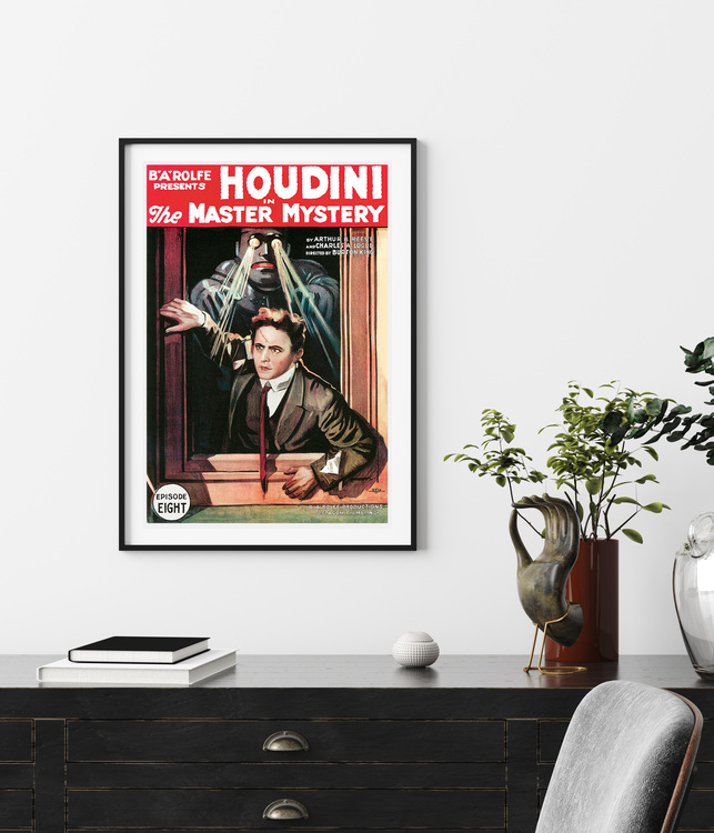 Filmposter – Houdini in The Master Mystery – 1919