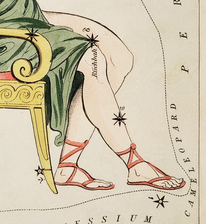 Poster – Stjärnbild, Casiopeia – 1825