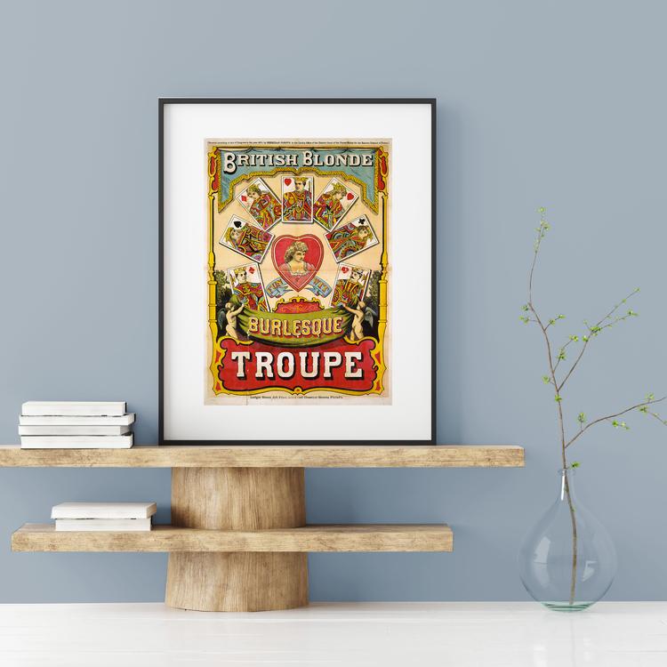 Poster – British Blonde Burlesque Troupe – 1870