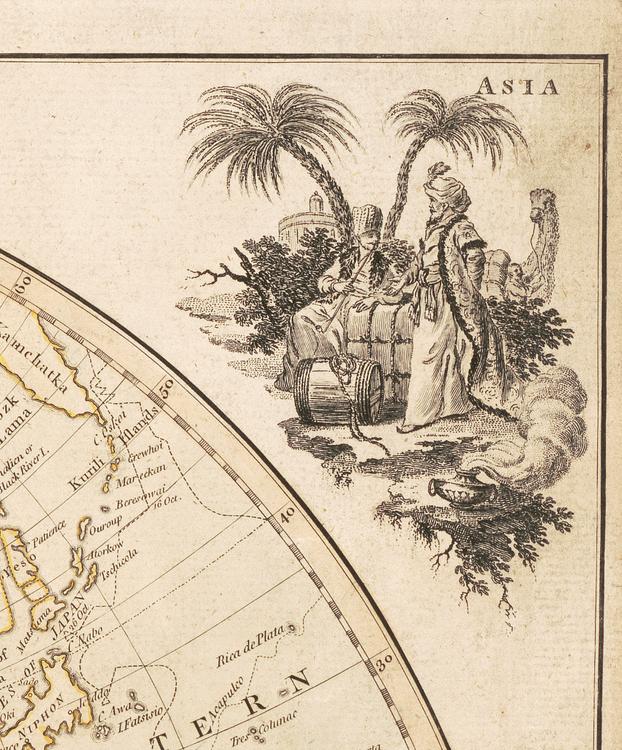 Världskarta – Bowles's new pocket map – 1791