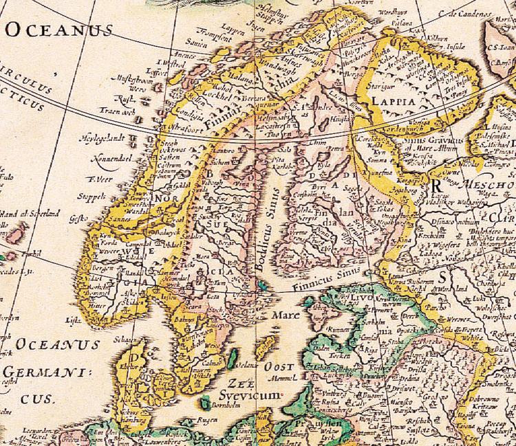 Karta – Europa – 1652