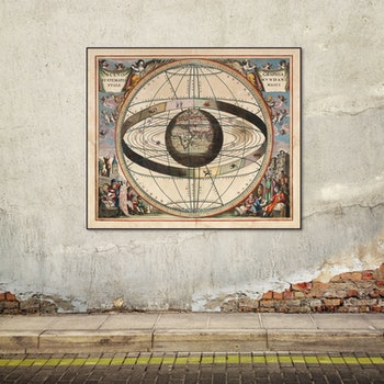 Bild/karta – Solsystemet – 1660