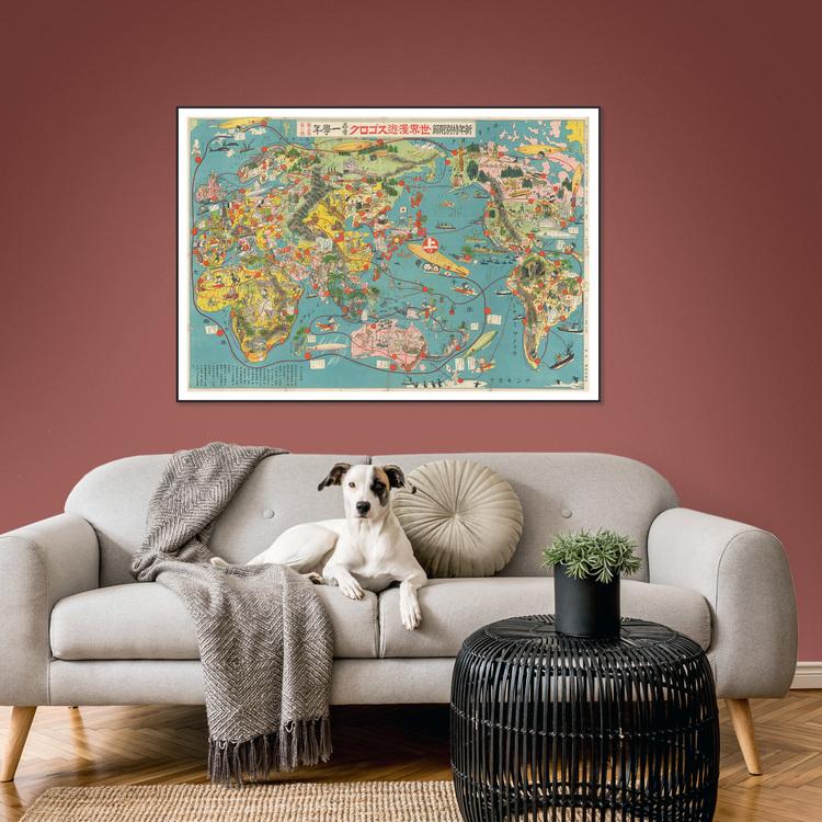 Satirbild – Japansk världskarta – 1932