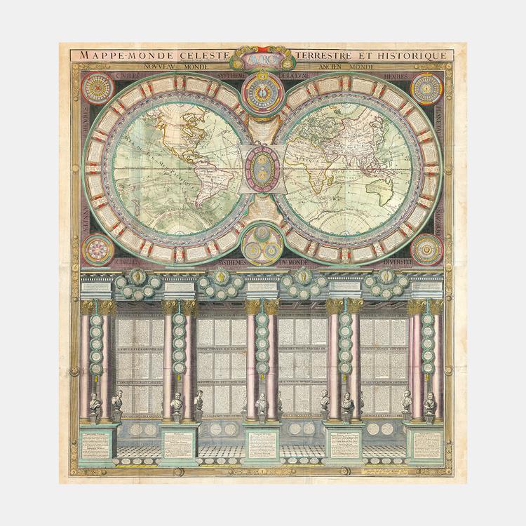 Världskarta – 1787